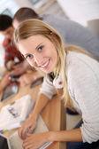 Ler student tjej — Stockfoto
