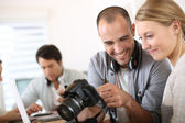 Photographers working — Stock Photo