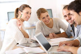 People in college studying — Stock Photo