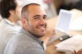 Guy attending training — Stock Photo