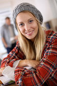 Trendy student girl — Stock Photo