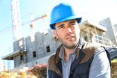 Serious construction manager — Stock Photo
