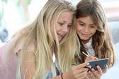 Dívky hrají společně — Stock fotografie