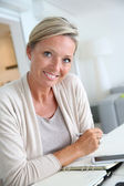 Mature woman — Stock Photo