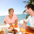Married couple enjoying breakfast — Stock Photo #38960611