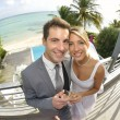 Just married couple — Stock Photo #38961745
