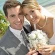 Just married couple — Stock Photo #38961977