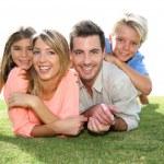 Portrait of family in summer time — Stock fotografie