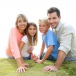 Portrait of family in summer time — Stock Photo #38962241