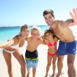 Family at the beach — Stock Photo #38962323