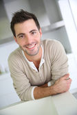 Smiling attractive man — Stock Photo
