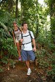 Couple on a trekking day — Stock Photo