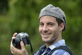 Man taking picture — Stock Photo