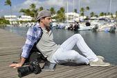 Photographer relaxing — Stok fotoğraf