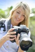 女性写真家の肖像画 — ストック写真