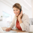 Businesswoman attending video conference — Stock Photo #39699691