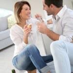 Couple celebrating house purchase — Stock Photo