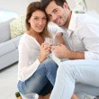 Couple celebrating house purchase — Stock Photo #39700905
