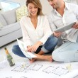 Couple celebrating house purchase — Stock Photo #39700909