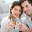 Couple celebrating house purchase — Stock Photo #39700955