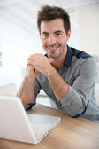 Man checking email — Stock Photo