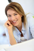 Cheerful mature businesswoman — Stock Photo