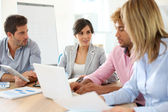 Business people in a meeting — Stock Photo