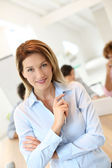 Successful smiling businesswoman — Stock Photo