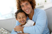 Father and child having fun — Stock Photo