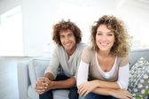 Sweet smiling couple — Stock Photo