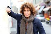 Guy in city street — Stock Photo