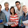 Stock Photo: Students with teacher