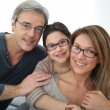 Stock Photo: Family wearing eyeglasses