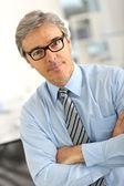 Businessman with eyeglasses — Stock Photo