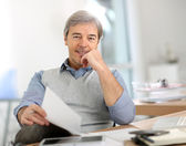 Businessman in office — Stock Photo
