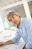 Architect working in office — Stock Photo