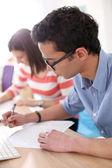 öğrenci başvuru formu doldurma — Stok fotoğraf