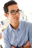 Boy with eyeglasses — Stock Photo