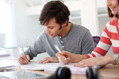 Student writing an exam — Stock Photo