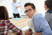 Student in conference room — Stock Photo