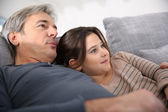 Man with daughter — Stock Photo