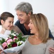 Stock Photo: Family celebrating mothers day