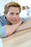 Smiling young man — Stock Photo