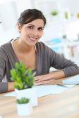 Woman designer in office — Stock Photo