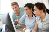 Students on business training — Stock Photo