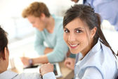 Businesswoman on business meeting — Stock Photo