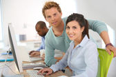 Adults in business training — Stock Photo