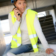 Woman engineer on building site — Stock Photo #47779375