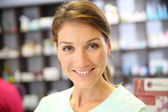 Smiling pharmacist woman — Stock Photo