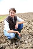 Mature farmer woman — Stock Photo